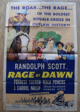 Rage at Dawn Film Poster -  One Sheet